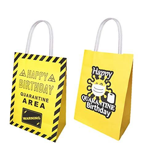 16 pcs Quarantine Birthday party supplies bag, party decoration supplies, Quarantine Birthday party supplies delicious candy bags, Quarantine birthday party