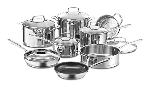 Cuisinart 13-Piece Professional Stainless Cookware Set