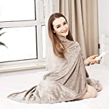 Tefici Electric Blanket Heated Throw with Fast Heating Technology,3 Heating Levels & 4 Hours Auto...