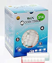 Coin Tissues | 514 Bulk Pack with 2 Carrying Cases | Compressed Towels | Camping Wipes | Toilet Paper Tablets | for Home, Beauty and Outdoors | Larger, Stronger, Softer