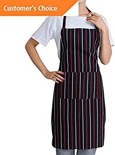 Kaputar Women Men Cooking Chef Kitchen Home Restaurant Bib Aprons Dress with Pocket BBQ | Model-353