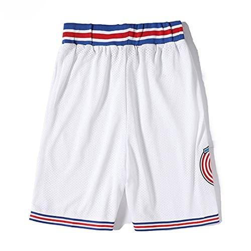 XGYD Camiseta de baloncesto para hombre Jordan #23 Space Movie Jersey, retro camiseta de verano bordada Tops Boy Baloncesto sin mangas chaleco superior, regalo de cumpleaños blanco pantalones cortos-S