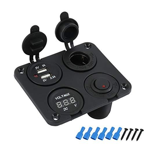 Auto Feuerzeug 12V Auto-Motorrad-Boot Zigarettenanzünder Embedded USB-Zigaretten-Feuerzeug-Auto geändertes Auto-Zubehör