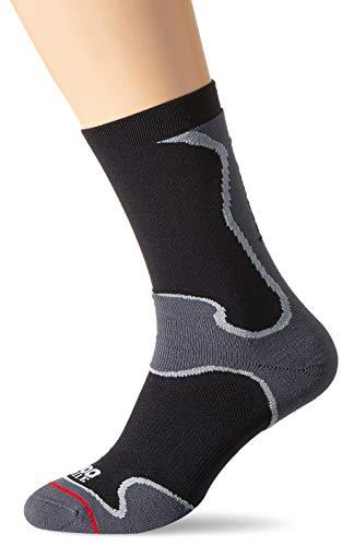 1000 Mile Unisex Fusion Sport Socken, schwarz/grau, XL