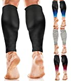 aZengear Calf Support Compression Sleeves for Men & Women - Running Sleeves - Shin Splint Support Calf Braces...