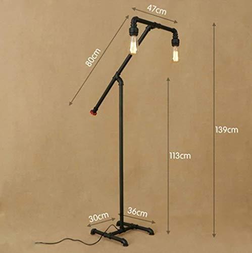SOSERFL Amerikaans minimalistisch woonkamer study ijzeren buislamp/restaurant creatief retro industriële vloerlamp
