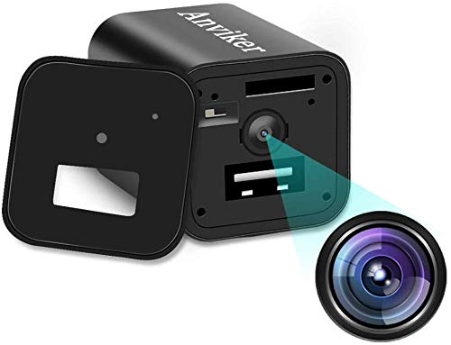 1080P tragbare kleine Kamera Mini Kamera Überwachungskamera USB Kamera mit Bewegungsmelder Fügen Sie mehrsprachige Bedienungsanleitung hinzu(Nicht im Lieferumfang enthalten SD-Karte) MEHRWEG