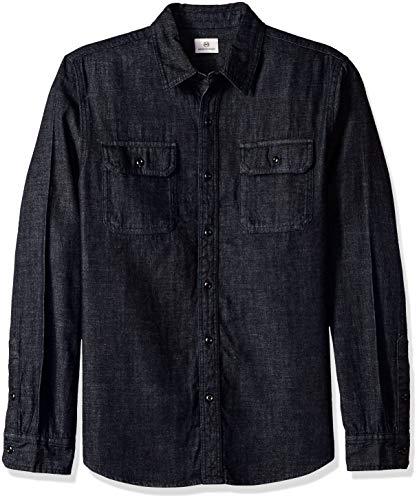 AG Adriano Goldschmied Herren Benning Utility Shirt Button Down Hemd, Schmelzglas, Mittel