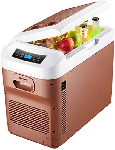 WRJY 28 Liter Mini-Autokühlschrank Dual-Core-Kühlung Tragbarer Kompressor Kühlschrank Gefrierschrank Mindesttemperatur -18 ° -65 °-Braun
