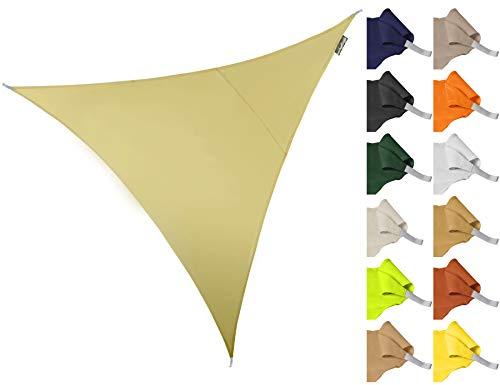 Kookaburra Tenda a Vela Triangolare 3,6m per Feste Resistente all\'Acqua Protezione Anti Raggi 96.5{6d16eaa46f60781662035d4b4d44bcd5fffe6f4aa5ffc88e820784a4e0e482fd} UV per Ombreggiare Il Giardino, Terrazzo o Balcone (Sabbia)
