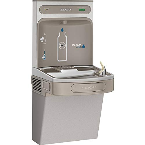 Elkay LZS8WSLK EZH2O Bottle Filling Station with Single ADA Cooler, Filtered, 8 GPH, Light Gray