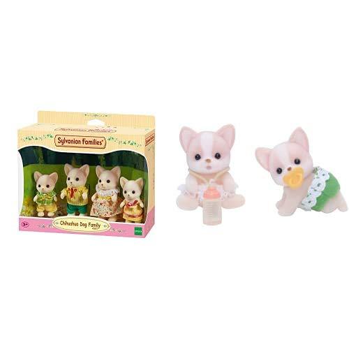 Sylvanian Families - 4387 - Familia Perro Chihuahua + 5085 - Gemelos Perro Chihuahua