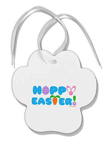 TOOLOUD Cute Decorative Hoppy Easter Design Paw Print Shaped Christmas Ornament