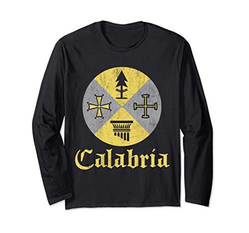 Proud Italian - Calabrese T Shirt Calabria Italy Flag Langarmshirt