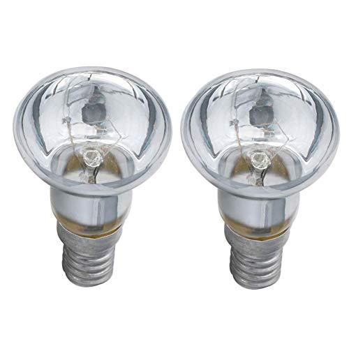 Tabanlly 2 Stück Reflektorlampe, R39 30 W Ersatz Lavalampe – SES E14 Edison Schraube Typ Glühbirne für Home Office