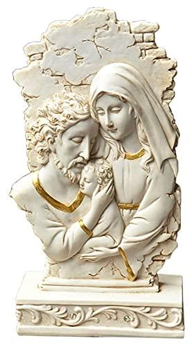 WQQLQX Estatuilla Cristo Católico Jesús Escultura Tabla de Nacimiento Gráfico de Resina Artesanía Modelo Estatua Jardín al Aire Libre Hogar Adornos Religios Decoración Regalo Figurines Estatua