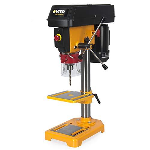 VITO Professional Tischbohrmaschine 500W VIMFC500A Säulenbohrmaschine mit einer Leistung von 500 W und einem maximalen Bohrerdurchmesser von 13 mm sind 5 Drehzahlen zwischen 500 und 2500 U / min