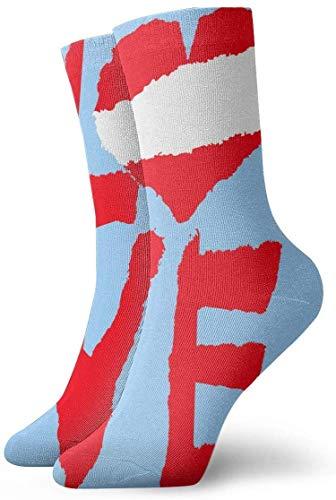 Calcetines divertidos con diseño de la bandera nacional de Perú América, de la vendimia en calcetines deportivos impresos en cm de largo, personalizados, 30 cm