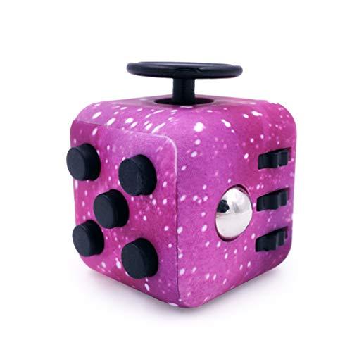 GreenBee Cubo antiestres, Fidget Cubes, Fidget Toys, Juguetes antiestres con 6 módulos relajantes. (Galáctico) 🔥