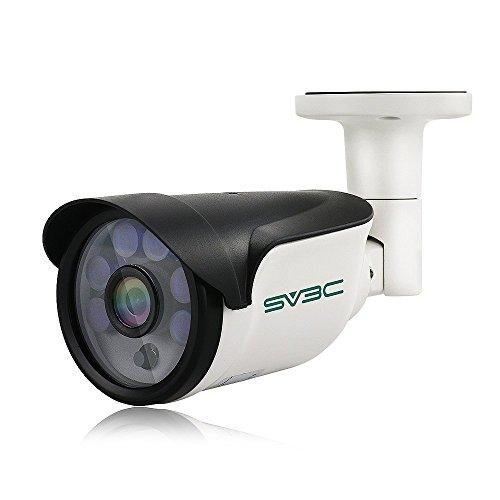 SV3C POE IP Kamera 1080P Überwachungskamera Aussen,HD Sicherheitskamera für Außen,15m Nachtsichtfunktion,IP66 wetterfest für außen,Unterstützung Fernbetrachtung durch IOS/Android/Auflage/Windows PC