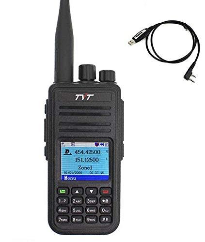 TYT Radio MD-UV380 MD-380 Dual Band DMR Digital Mobile Radio VHF/UHF 150-174/450-480MHz Walkie Talkie Handheld 2 Way Radio with Programming Cable