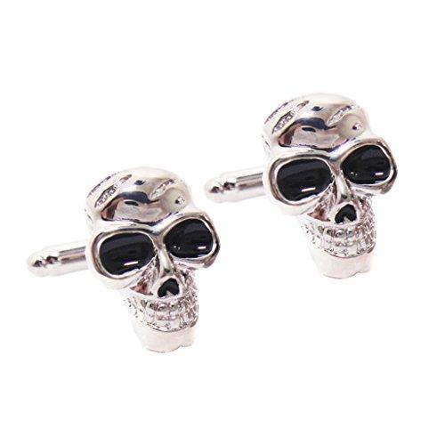 Fashion Punk Metal Herren Vintage Copper Boys Hemd Skeleton Skull Manschettenknöpfe
