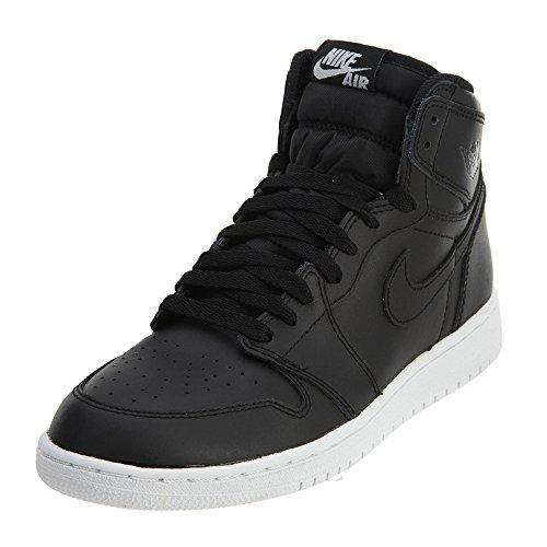 Nike Nike Herren Air Jordan 1 Retro High OG BG Basketballschuhe, Schwarz-Weiß, 36 EU