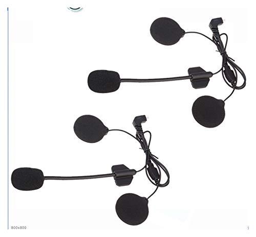 GUANGGUANG Heartwarming Shop 2set Auriculares Accesorios de micrófono Auriculares Duros Fit para T-COMFM T-COMSC FDC-01VB Colo TCOM-02 Casco de Motocicleta Intercomunicador