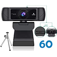 NexiGo N680P 1080P 60FPS Webcam with Microphone, Privacy Cover and Tripod