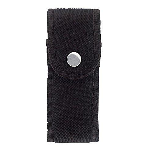 Tasche für Biker-Taschenmesser, schwarzer Stoff