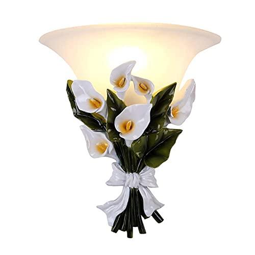 FXLYMR Wall Lamp Chandelier Luxury Fashion [Northern Europe] Moderns Light Fixture Bedroom, E27 Indoors Glass Surface Mounted Hallway Lighting Set of 2,Blanco,1