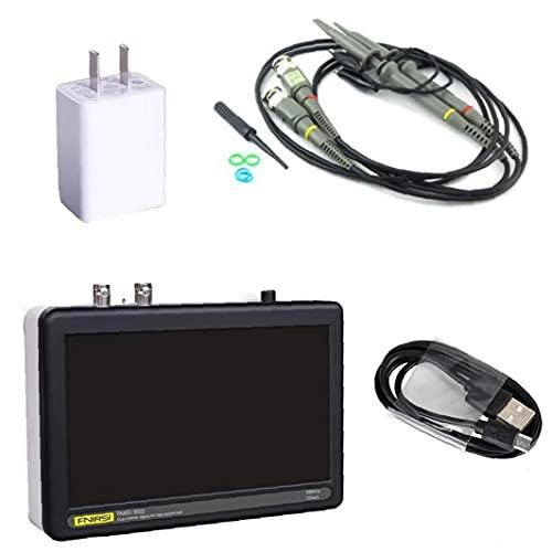 Osciloscopio digital FNIRSI 1013D 2 canales 1 GS/S LCD Pantalla táctil Tableta Osciloscopio 100MHz ancho de banda negro conveniente