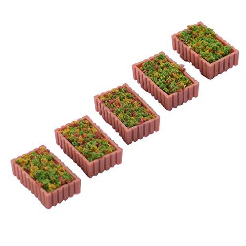 sharprepublic 5 Stücke Kunststoff Pflanzen Miniatur Landschaft Für Märchengarten Puppenhaus Dekoration 1/75