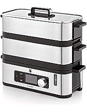 WMF Kitchenminis Mini-stoompan, 4,3 l, stoompoker met geheugenfunctie, warmhoudfunctie, weergave resterende looptijd, 2 individueel regelbare gaarcontainers