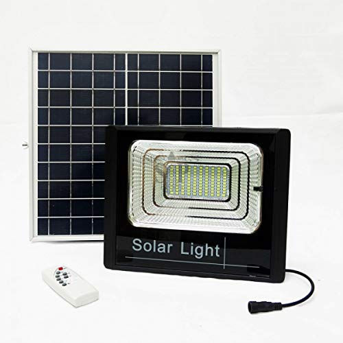 Faro LED SMD 40W watt con indicatore di carica pannello solare crepuscolare FOYU