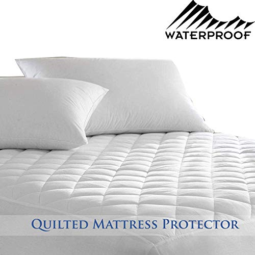n a Luxurious Waterproof Mattress Protector - Cover Easy Care 4ft Small Double King Diamond Quilted 30cm Deep Fitted Bedding Protector: Non-Allergenic, Anti Dustmite & Absorbent (Super King)