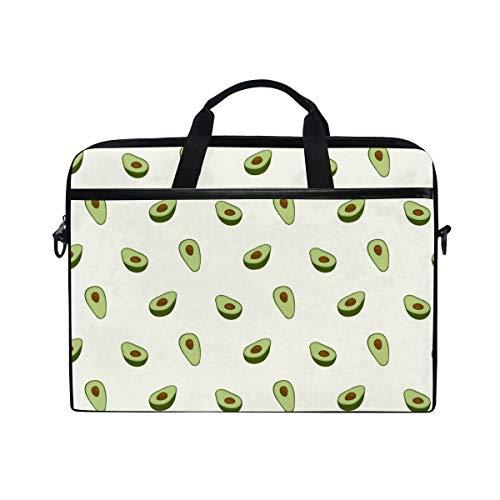 AGONA Cute Fruit Avocado Laptop Shoulder Messenger Bag 15 inch Case Sleeve for 14 Inch Laptop Case Laptop Briefcase Compatible Notebook MacBook Ultrabook Chromebook