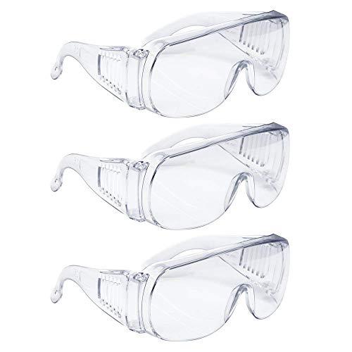 Outtybrave Persönliche Schutzausrüstung für Schutzbrillen, PSA, Augenschutz, transparente, hochfeste, belüftete Oberfläche, für Bau, Labor, Chemie