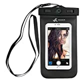 Voxkin Premium Quality Universal Waterproof Case with Compass ✚ Lanyard - Best Water Proof, Dustproof, Snow Proof Dry Bag for iPhone 12 Pro, 12 Mini, S21 Ultra, OnePlus 8, 8 Pro, or Any Cell Phones