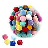 Aweisile Pompoms Pompon Colorati 200 Pezzi Pom Poms Colorati Pompon Decorativi 2cm Pompon a Sfera per Artigianato per Fai da Te Creativo Mestieri Decorazione 20 Colori