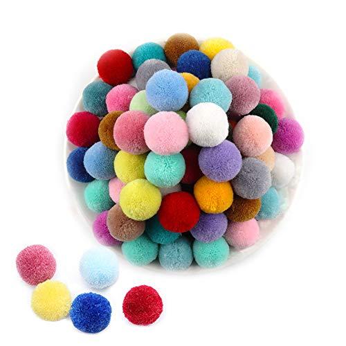 Aweisile Pompones 200 piezas Pompones de Bola Pompones Colores Pompones de Colores Pompones Decorativos 2cm para Bricolaje Decoración de Ropa y Sombreros, 20 colores