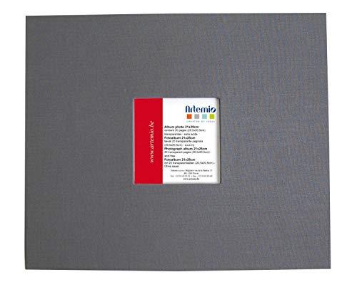 Artemio Album avec fenêtre Anthracite 215 x 255 20 Pochettes