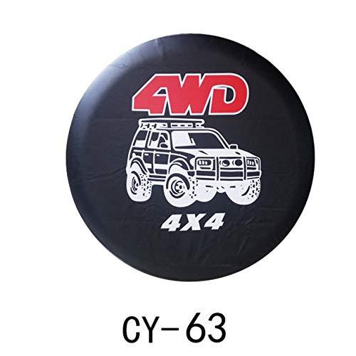 """Ashley GAO 15 Universal 4WD 4X4 Negro Cuero PVC Neumático Bolsa de Neumáticos de Repuesto de la Rueda de la Cubierta de la Bolsa de la Bolsa de Protector de Neumáticos de Coche """""""