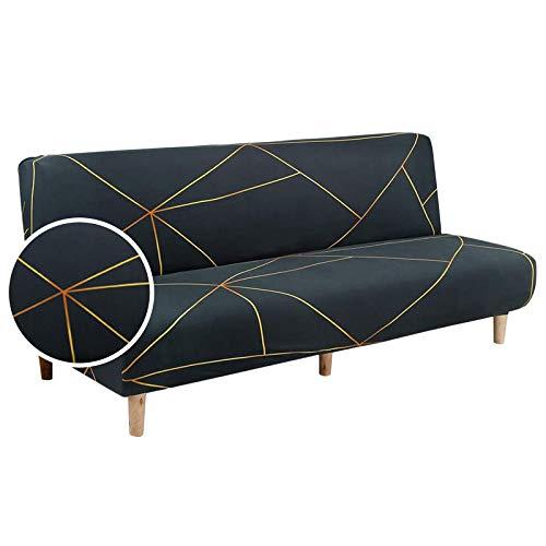 JuneJour Housse Clic Clac Housse de canapé Housse de Canapé Extensible Elastique Housse Canape Lit Impression(Vert et Jaune,Taille Unique)