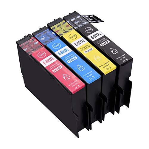 Aibecy 603XL - Cartuchos de tinta compatibles con Epson XP-2100, XP-2105, XP-3100, XP-3105, XP-4100, XP-4100, XP-4105, WorkForce WF-2810DWF, WF-2830DWF, WF-2835DWF, WF-2850DWF Impresora.