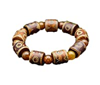 necklace Damenmode Halskette DREI Dzi Perlen Armband Armband Tibet Chalcedon Achat Perlen DREI Armband Heben