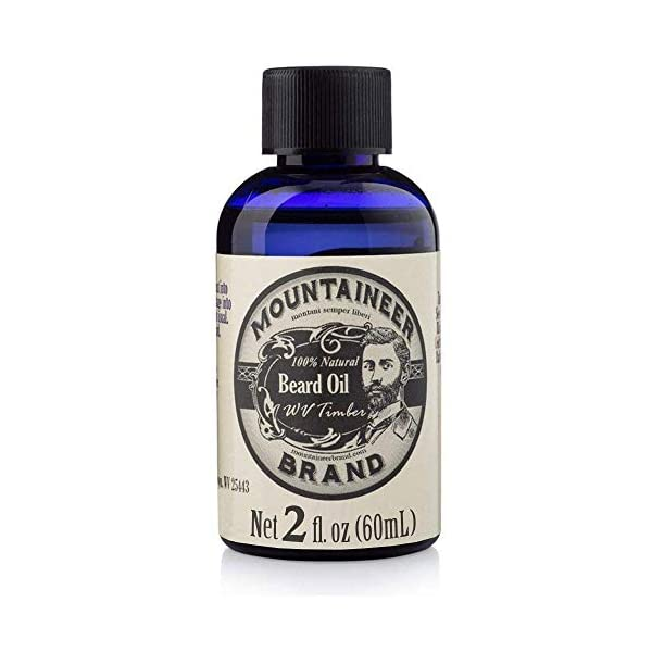 Beard Oil by Mountaineer Brand, WV Timber, Scented with Cedarwood and Fir Needle, Conditioning Oil, 2 oz bottle 1
