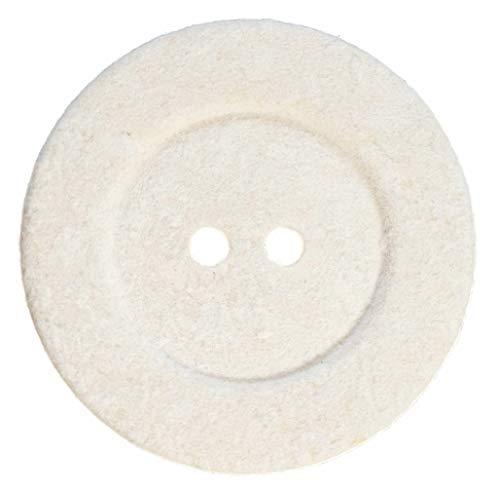 12 Botones para Abrigos y Chaquetas de Algodón Reciclado, Color Crudo - 27 mm - Fabricado y Enviado desde España -