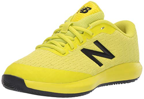 New Balance 996 V4 Tennis Shoe, Sulphur Yellow/Lemon Slush, 10.5 Wide US Unisex Little_Kid