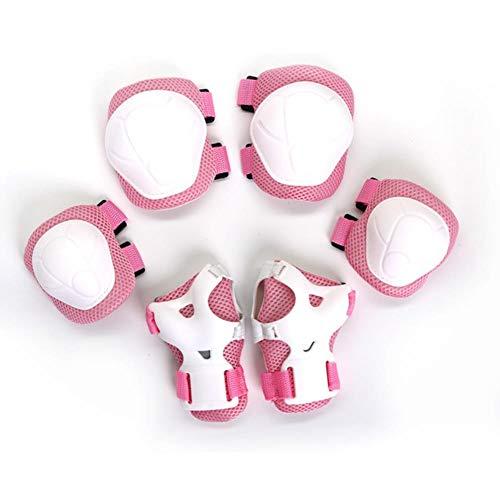 UKKD Rodilleras para bebé 6Pc Protector De Seguridad para Niños Almohadillas De Rodilla para Niños Roller De Bicicleta Patinaje De Patinaje Monopatín Almohadillas De Rodilla Muñeca Pad Protective
